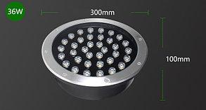 Грунтовый светодиодный светильник 36Вт - Теплый белый