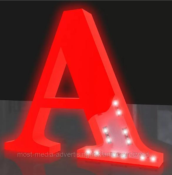 Объемные буквы с подстветкой