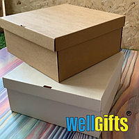 Подарочная картонная коробка для упаковки 25х25х10 см