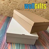 Подарочная картонная упаковка 23х17х9 см Белый
