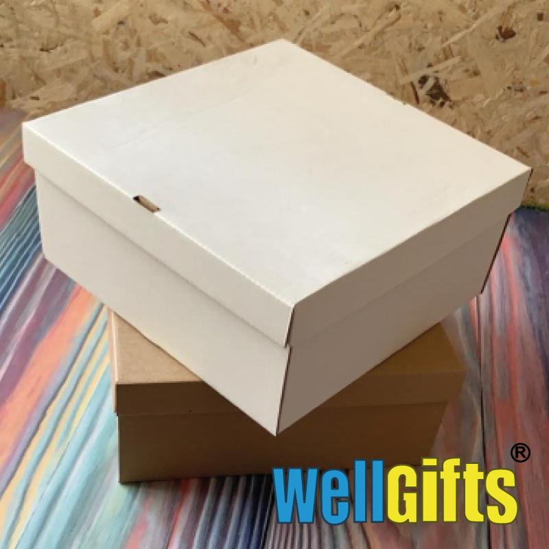Подарочная картонная коробка для упаковки 10х10х8 см - фото 2