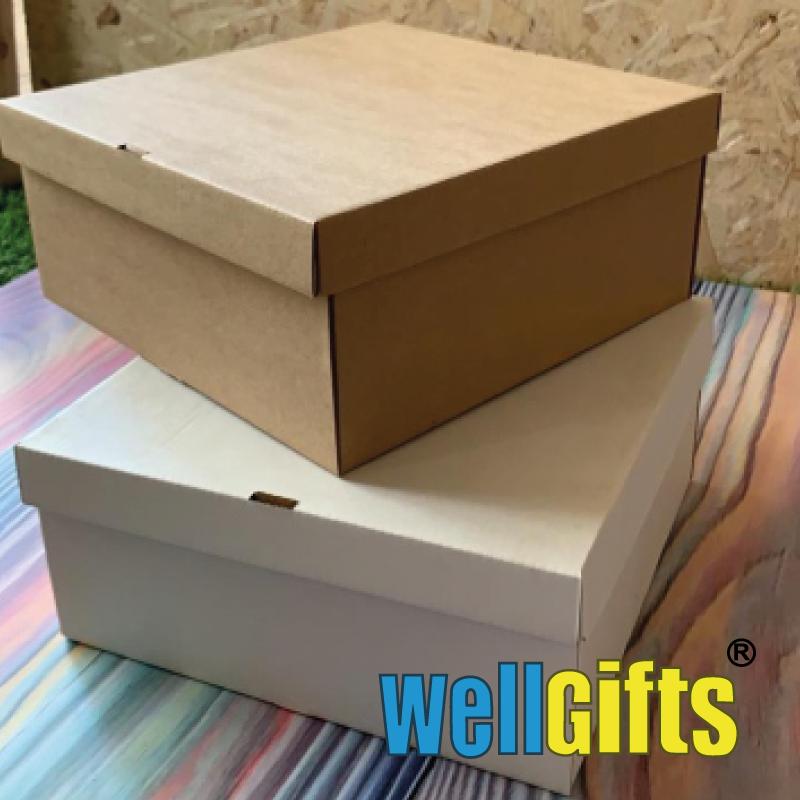 Подарочная картонная коробка для упаковки 10х10х8 см - фото 3
