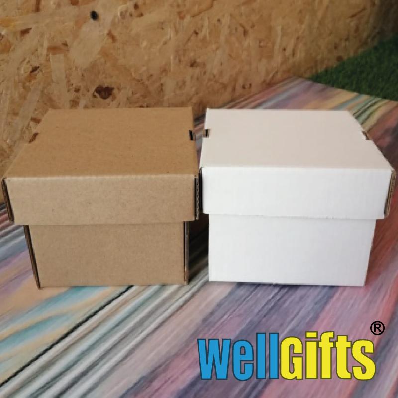Подарочная картонная коробка для упаковки 10х10х8 см - фото 1