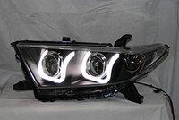 Передние тюнинг фары в стиле RANGE ROVER на Toyota Highlander 2011-2013