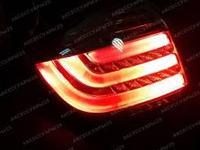 Задние тюнинг фонари в стиле BMW RED на TOYOTA HIGHLANDER 2011-2013