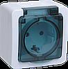 Розетка 1-местная для открытой установки РСб20-3-ГПБд с заземляющим контактом IP54 ГЕРМЕС PLUS