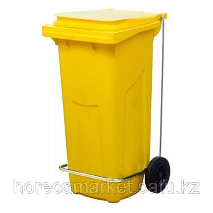 Контейнер для мусора 120 л с педалью, фото 2