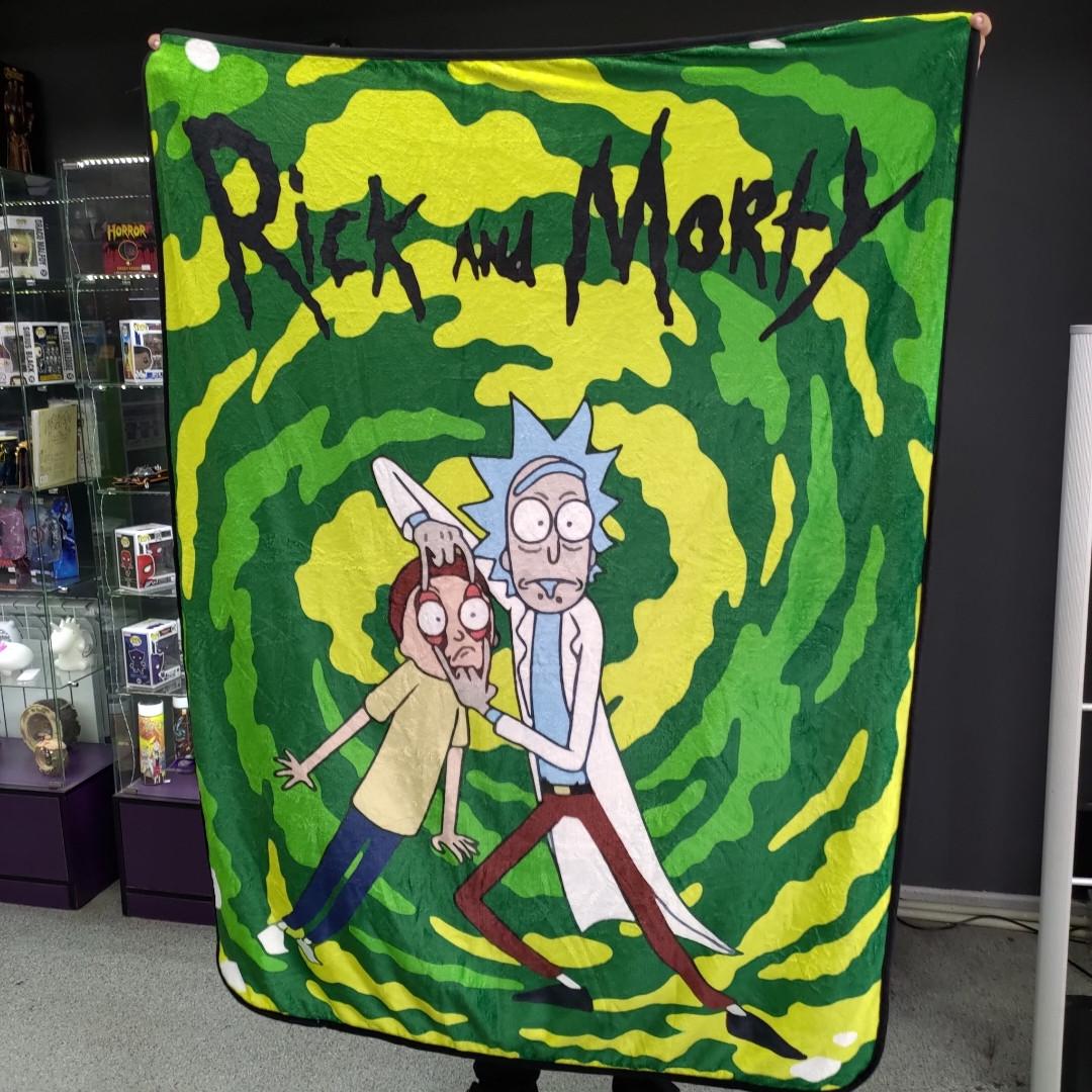 Плед Рик и Морти