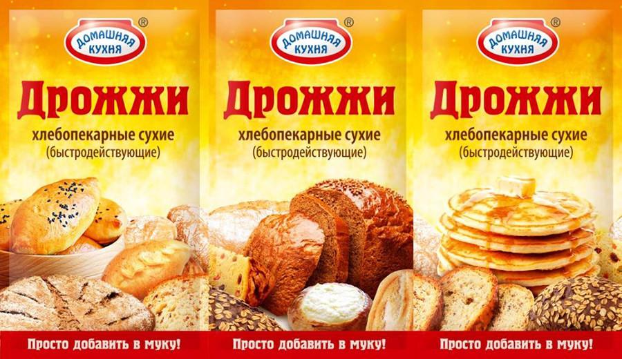 """Дрожжи хлебопекарные сухие """"Домашняя кухня"""", 12 г"""