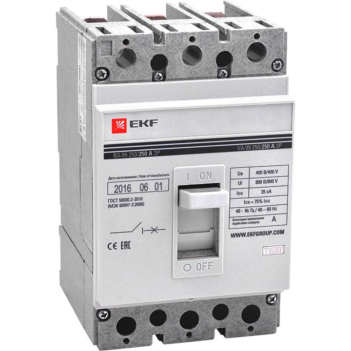 Выключатель автоматический ВА-99 250/125А 3P 35кА EKF PROxima