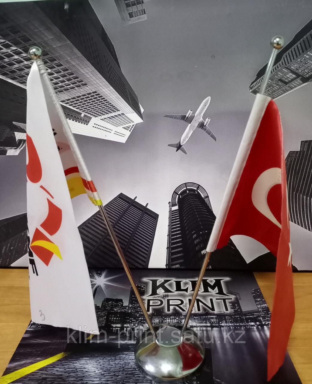 Флажки из габардина в Алматы сделать нанесение