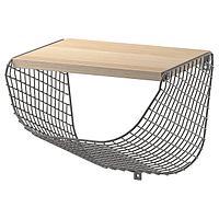 Полка с отделением для хранения, темно-серый, под беленый дуб,СВЕНСХУЛЬТ, 30x28 см  ИКЕА, IKEA, фото 1