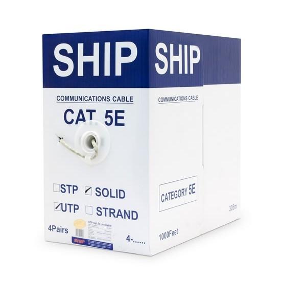 Кабель сетевой SHIP D135-P Cat.5e UTP PVS (Кабель сетевой,  SHIP, D135-P, Cat.5e, UTP, 30В, 4x2x1/0.51мм, PVC,