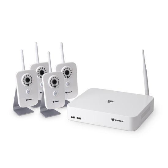 Комплект сетевого видеонаблюдения EAGLE  EGL-NH2004-BVH-210 (Комплект сетевого видеонаблюдения, EAGLE,