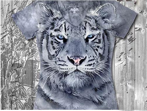 """""""Тигр"""" Женская футболка варенка с 3D принтом"""