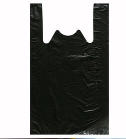 Пакеты майка (с ручкой) черный цвет 60х90