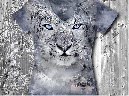 """""""Барс"""" Женская футболка варенка с 3D принтом, фото 2"""