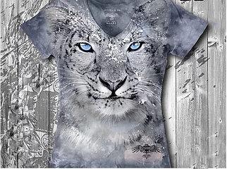 """""""Барс"""" Женская футболка варенка с 3D принтом"""