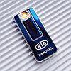 """USB - Зажигалка со спиралью """"KIA MOTORS"""", синяя."""