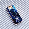 """USB - Зажигалка со спиралью """"BMW"""", синяя."""