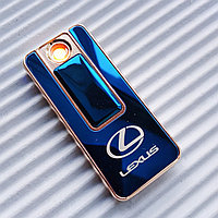 "USB - Зажигалка со спиралью ""LEXUS"", синяя., фото 1"