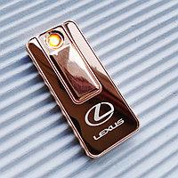 "USB - Зажигалка со спиралью ""LEXUS"", золотистая., фото 1"