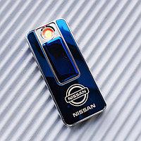 """USB - Зажигалка со спиралью """"NISSAN"""", синяя., фото 1"""