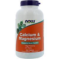 Кальций и магний, 250 таблеток Now Foods