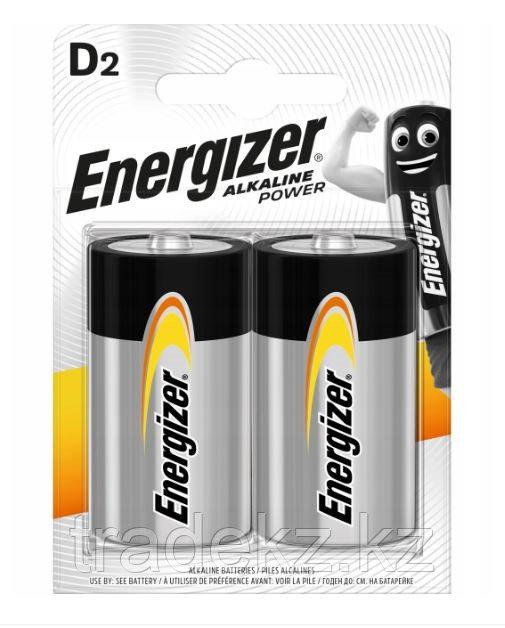 Элемент питания D Energizer Power Alkaline 2 штуки в блистере