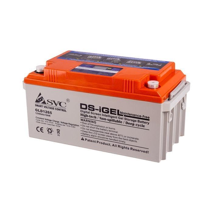 Батарея SVC GLD1265 (Батарея, SVC, GLD1265, Гелевая  12В 65 Ач, LED-дисплей, Размер в мм.: 350*167*173)