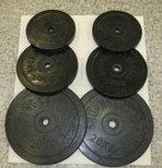 Блины на штангу (черные) D 28, фото 2