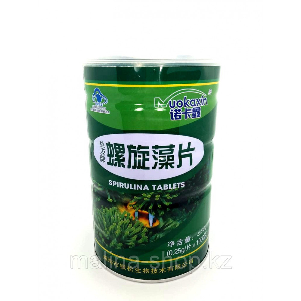 Spirulina tablets спирулина таблетки 1000 таблеток