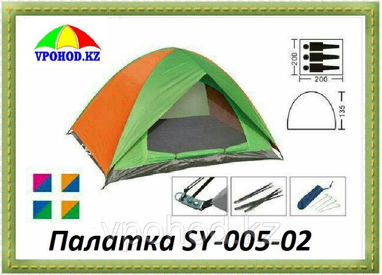 Палатка 3-х местная двухслойная SY-005-02