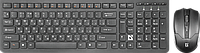 Комплект беспроводной клавиатура+мышь Defender Columbia C-775 RU,черный,мультимедиа