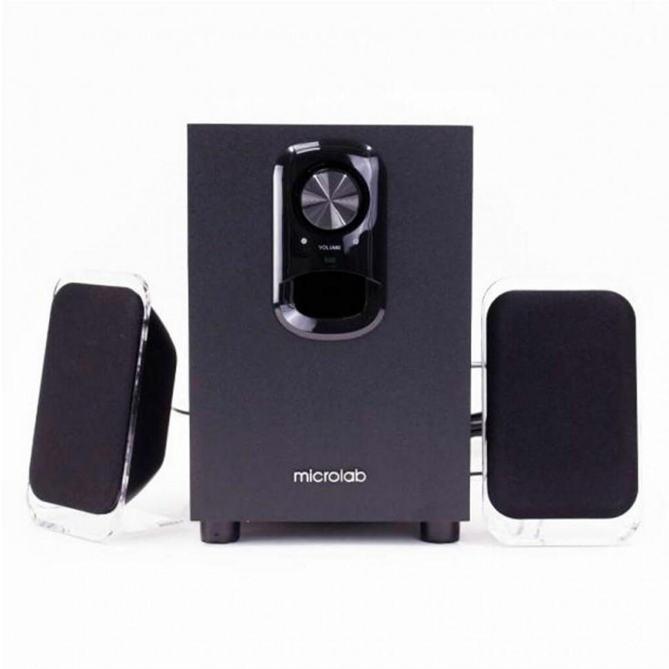 Акустическая система, Microlab, M-108R, 11Вт (2,5Вт*2+6Вт), Вход/Выход 3,5 MiniJack, Чёрный