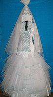 Платье свадебное национальное с саукеле и фатой