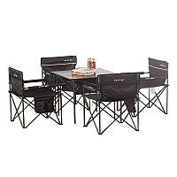 Туристическая мебель Travel Light Комплект (стол + 4 стула 002) (Q16322) Чёрный