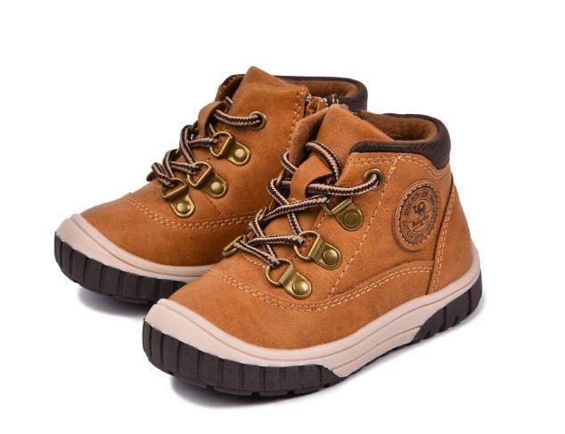 Осенние ботинки, цвет коричневый