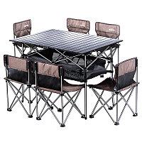 Туристическая мебель Travel Light Комплект (стол 94X55X54.5cm + 6 стульев 011) (340DOD)