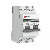 Автоматический выключатель 2P 6А (C) 6кА ВА 47-63 EKF PROxima, фото 1