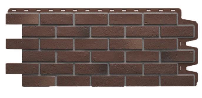Фасадные панели BERG Дёке Коричневый 1015x434 мм