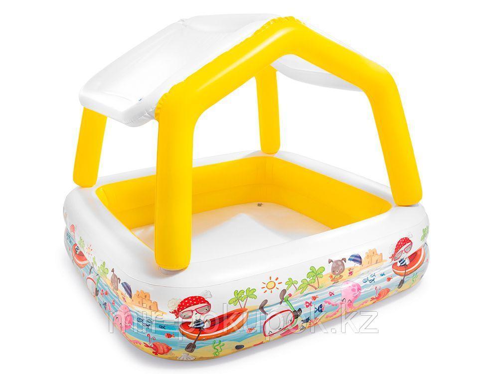 "Надувной бассейн Intex с навесом ""Домик"", 157х157х122 см, Intex 57470"