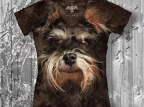 """""""Собачка"""" Женская футболка варенка с 3D принтом, фото 2"""