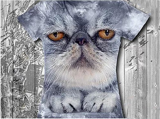 """""""Кот важный"""" Женская футболка варенка с 3D принтом"""