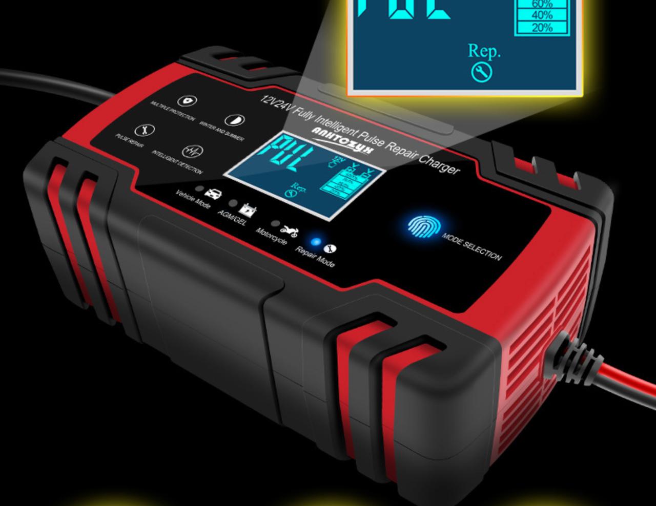 Устройство зарядное для автомобильных аккумуляторов 12/24V. - фото 1
