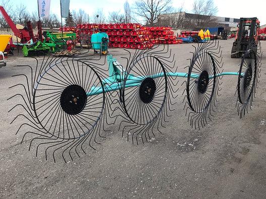 Усиленные грабли-ворошилки 4х колесные, фото 2