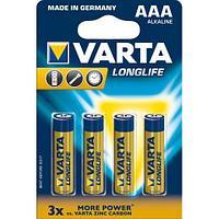 Батарейки Varta Longlife Micro AAA/LR3, 4 шт/уп
