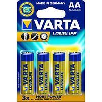 Батарейки Varta Longlife Mignon AA/LR6, 4 шт/уп