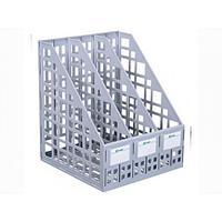 Лоток для документов вертикальный ЛТ80, 3-секционный, СТАММ, сборный, серый