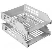 Набор из 2-х горизонтальных лотков СТАММ STRONG ЛТ101, на металлических стержнях, серый